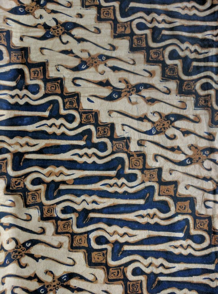 Antique Batik tulis parang motif From Central Java.