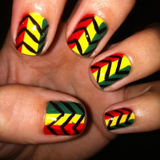 Best 25+ Rasta Nails Ideas On Pinterest