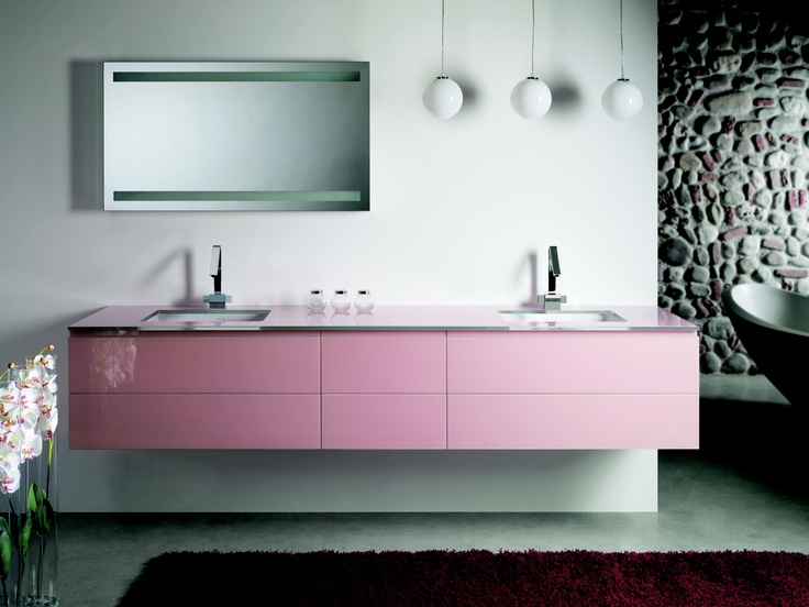Monolite #bathroom furniture in pink at #cphart