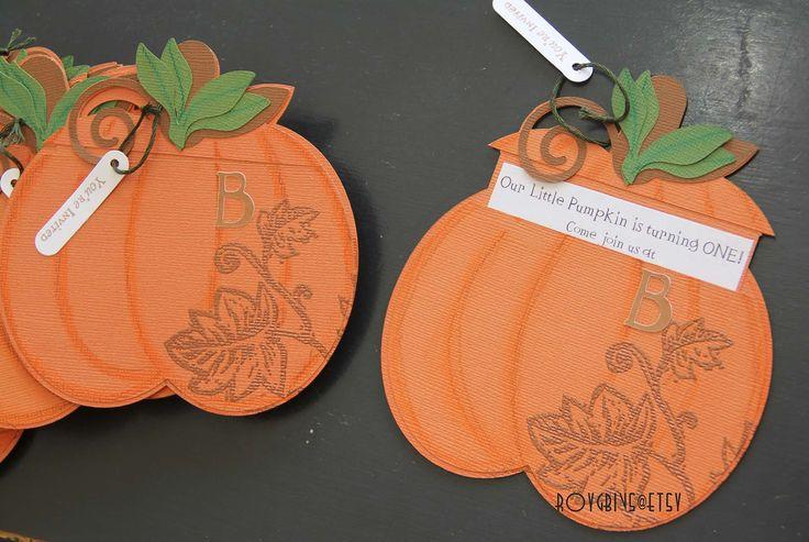 Pumpkin Invitations. Fall. Pumpkin Patch. Copper.