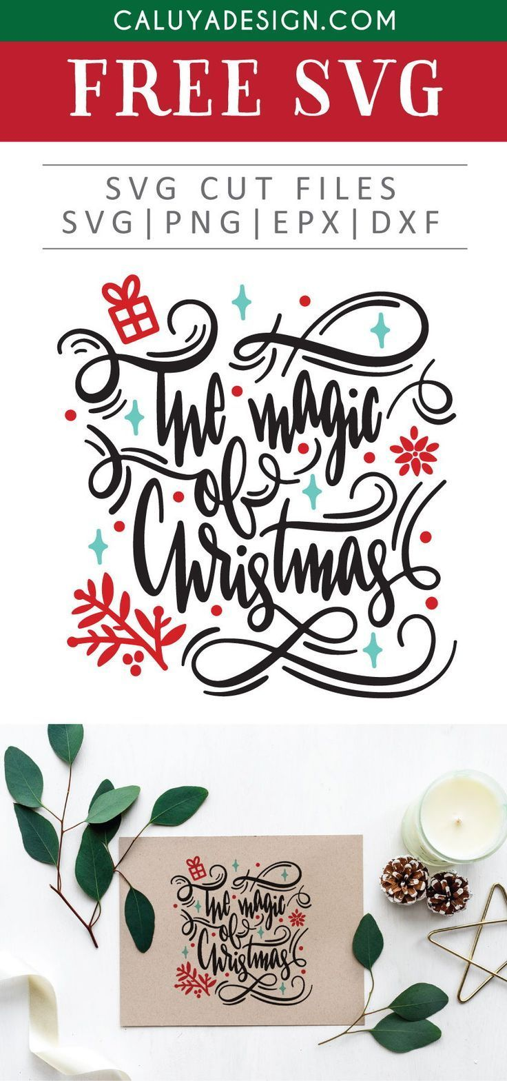 Free The Magic Of Christmas Svg Png Eps Dxf Free Printable Clip Art Christmas Svg Christmas Labels