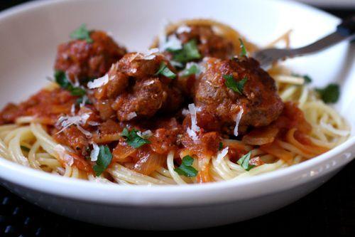 Spaghetti and Meatballs All'Amatriciana | Favorite Recipes | Pinterest