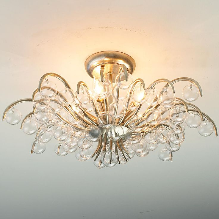 blown glass ornamental semiflush ceiling light