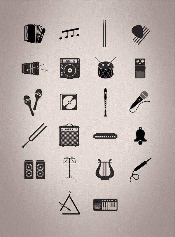 LOGOS & MUSIC by Renaud Mignerey, via Behance