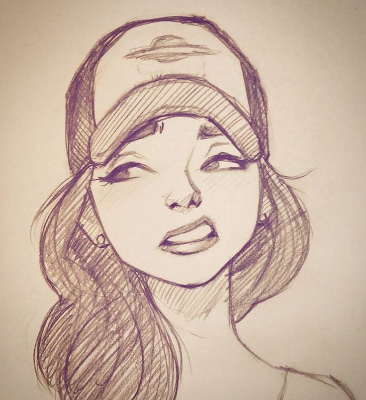 Картинки девушек нарисованных мультяшных простых