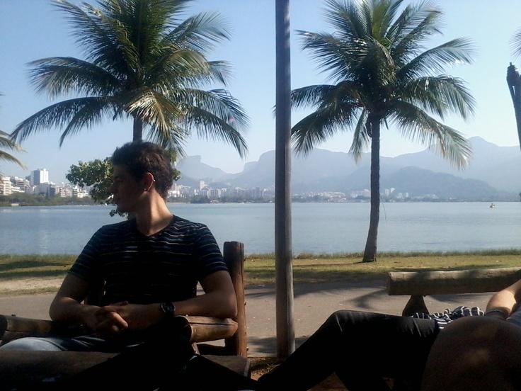 Friend and Lagoa Rodrigo de Freitas