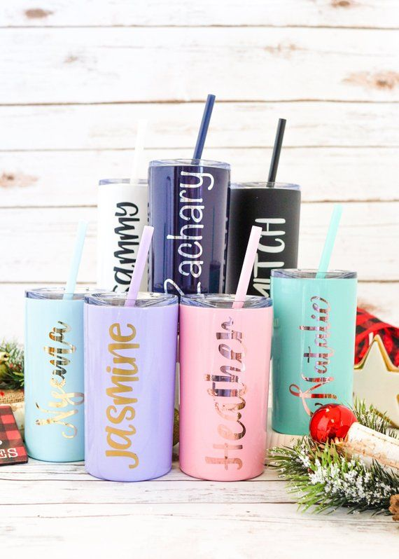 Personalized Gift Birthday Party Favors Tumbler With Straw Girls