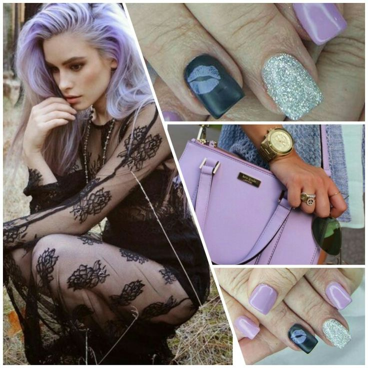 Lilac purple nails
