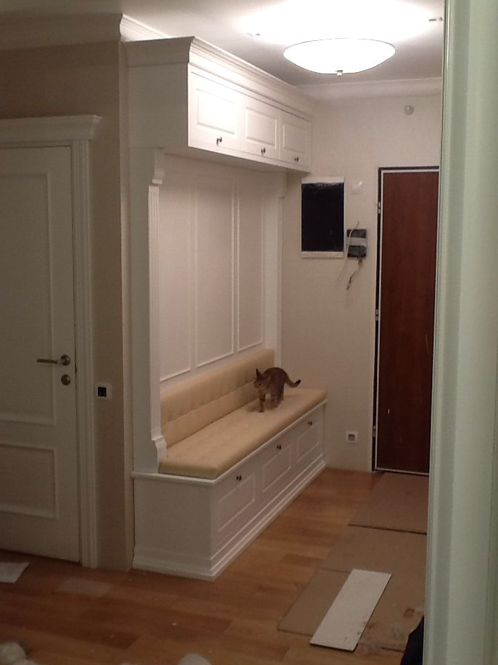 our mudroom layout - almost exactly - like the finishes