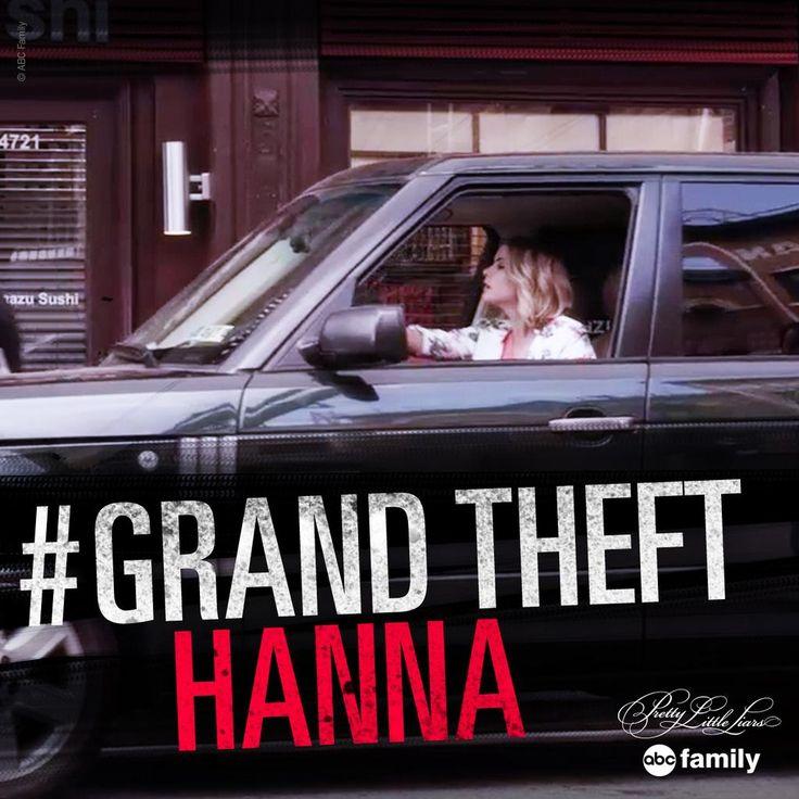 "S6 Ep6 ""No Stone Unturned"" - Ooooh, #GrandTheftHanna is such a badass! #PLL"