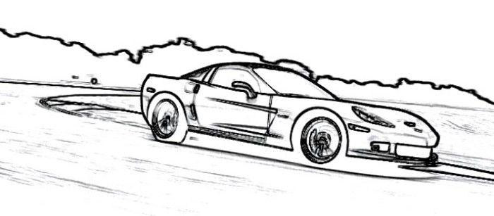 Corvette Supercars Coloring Page
