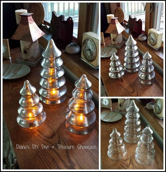 crafts mercury glass tree, crafts, repurposing upcycling, seasonal holiday decor