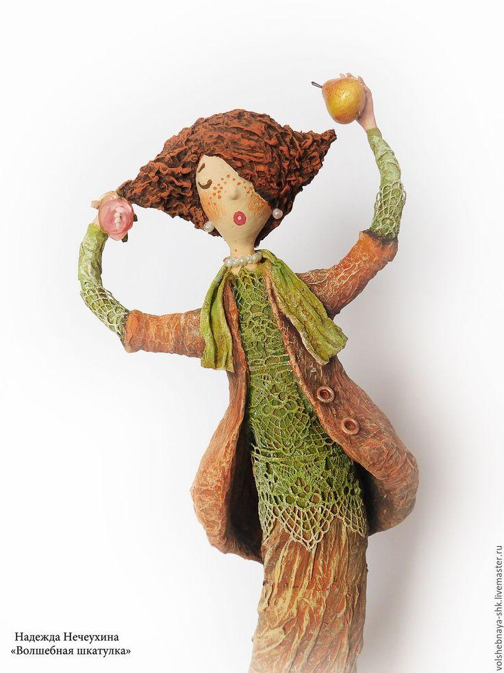 """Купить Интерьерная кукла """"Рыжая Соня"""", статуэтка, каркасная кукла - интерьерная игрушка, интерьерное украшение"""