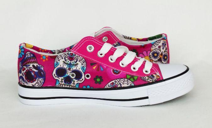 Pink Sugar Skull Shoes