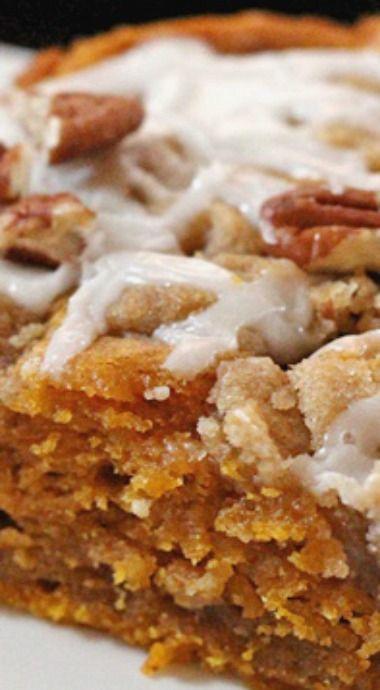 Moist Cinnamon Streusel Pumpkin Coffee Cake Recipe