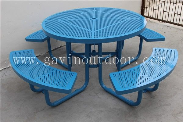Powder coated steel outdoor bench with table metal picnic table, View picnic table, Gavin Product Details from Guangzhou Gavin Urban Elements Co., Ltd. on Alibaba.com