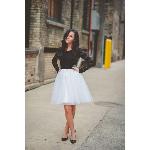 Tulle Skirt-Adult Lined-Bachelorette Tutu White Tutu Skirt ($70) ❤ liked on Polyvore featuring skirts, black, women's clothing, tutu skirts, white high waisted skirt, plus size white skirt, white skirt and plus size skirts