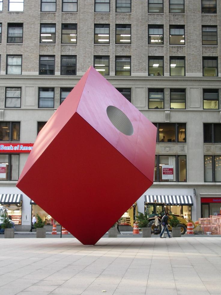 Red Cube by Isamu Naguchi