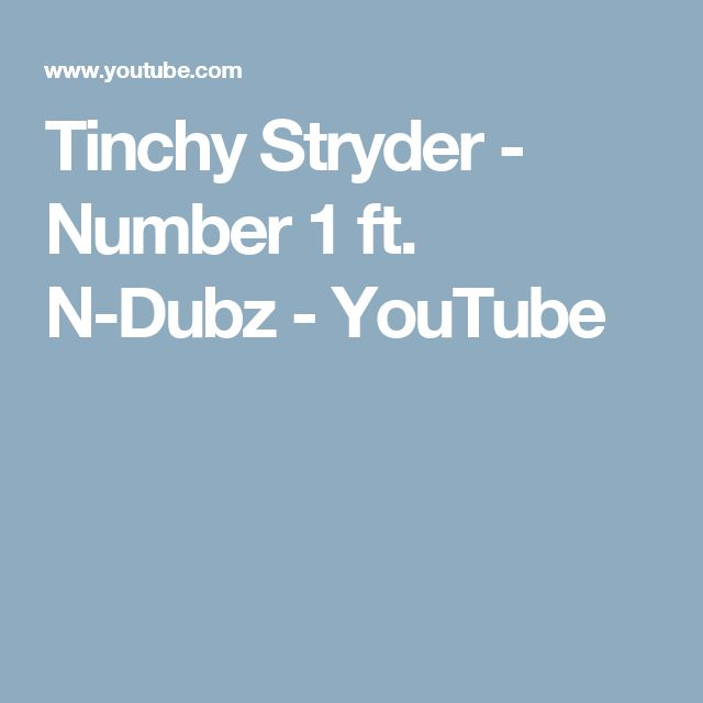 Tinchy Stryder - Number 1 ft. N-Dubz - YouTube