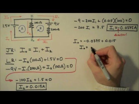 Kirchhoff's Rules (Laws) - Simple Example