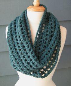 lenço infinito crochet padrão | Cachecol de infinito de crochê-mesmo padrão como um ...