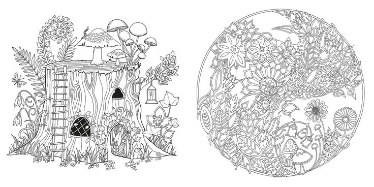 enchanted forest colouring book - Google Search