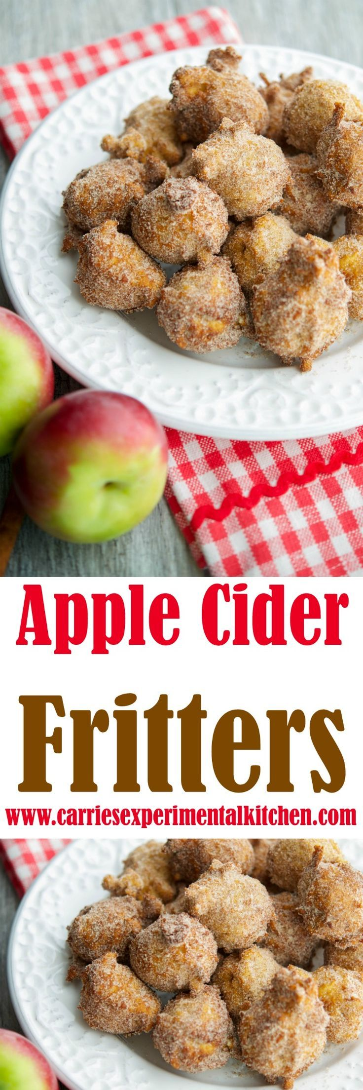 Apple Cider Fritters are delicious and made with warm bits of apple, fresh apple…