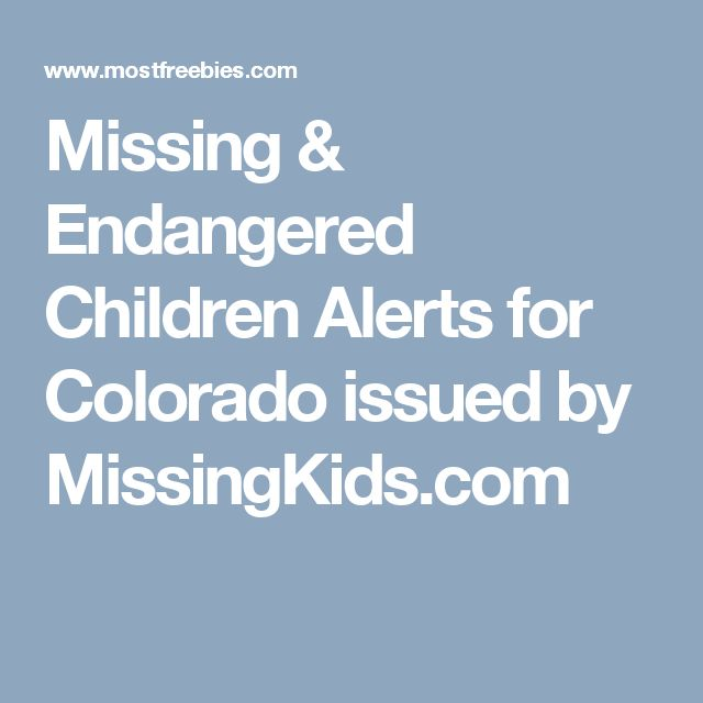 17 Best Images About COLORADO MISSING PERSONS 2016 On