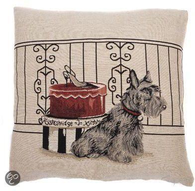 In The Mood Sierkussen Napoleon - 45x45 cm - Schotse Terrier