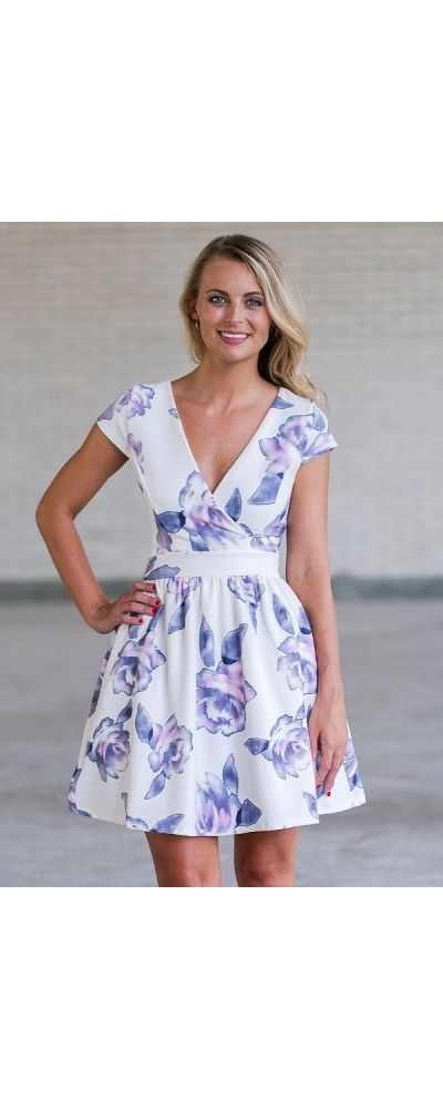 Lily Boutique I Really Lilac You Floral Print Party Dress, $38 Purple Floral Print A-Line Sundress, Cute Online Boutique Juniors Dress, Purple Summer Dress www.lilyboutique.com