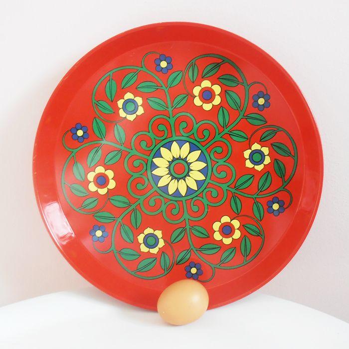 SERVEREN & SNIJDEN : Dienblad Bloemen rood | BinnenPret Wonen