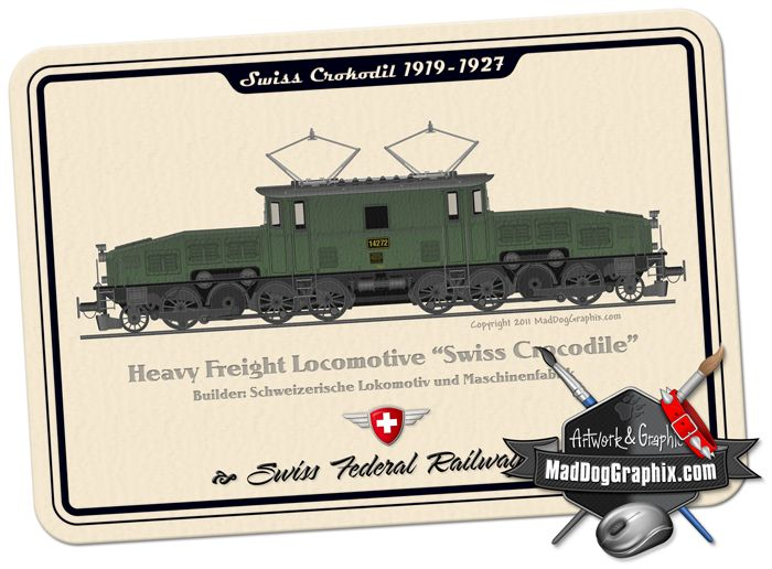 "The Swiss heavy haul locomotive ""Krokodil"" / MadDogGraphix.com"