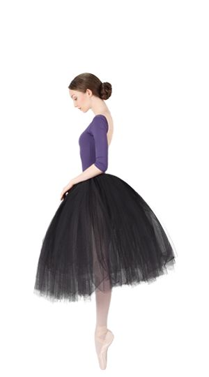 Long tulle skirt Violet Iris by Repetto - Collection fall-winter 2015