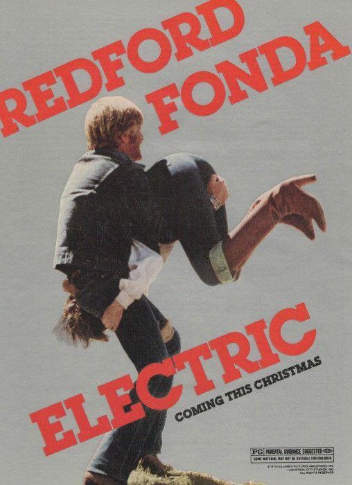 "1980 Electric Horseman Movie Ad ""Robert Redford & Jane Fonda"""
