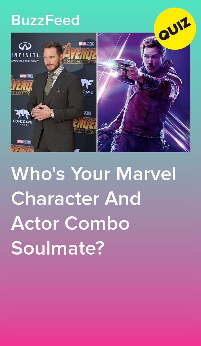 Who's Your Marvel Character And Actor Combo Soulmate