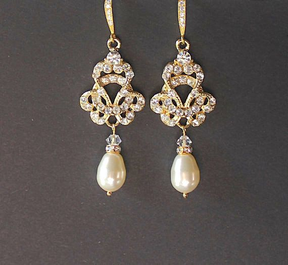 The 25 best Bridal chandelier earrings ideas on Pinterest Art