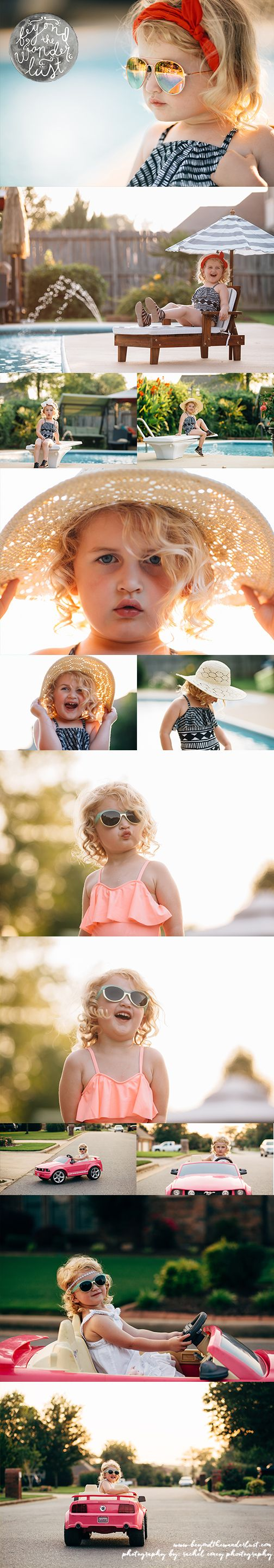 little girl pictures, styled sessions, birthday picture ideas, pool pictures