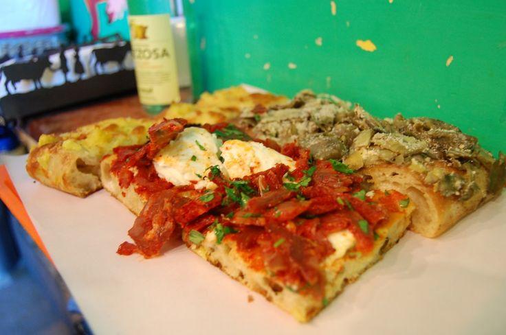 Pizzarium, Rome. Reportedly the best pizza al taglio (pizza by the cut) in Roma.