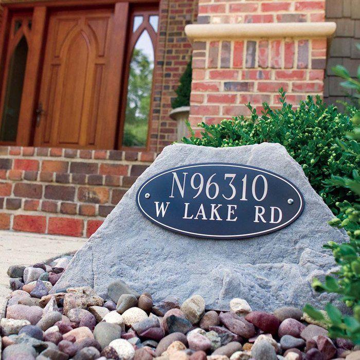 Artificial Rock Address Marker Brookstone Address