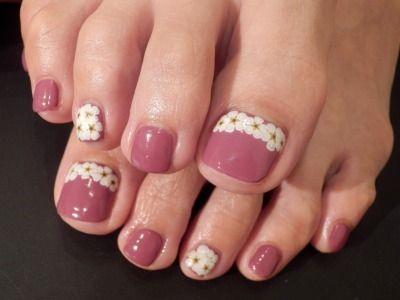 「和風★お花ペディ」の画像|Nails Heart(ネイルズ・ハー… |Ameba (アメーバ)