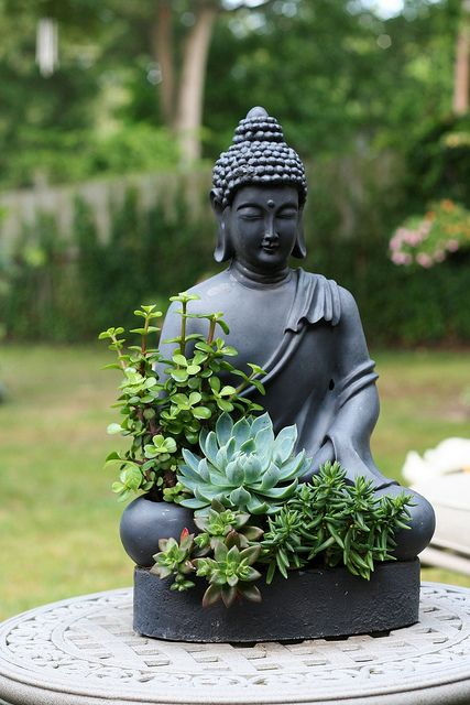 We Could Use Statues Like This To Keep Plants In  We Could Even Use  Religious Or Meditation Statues To Make The Garden Feel More Like A Calm  Space  Cons: ...