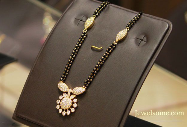 flowers mangalsutra design #jewellery