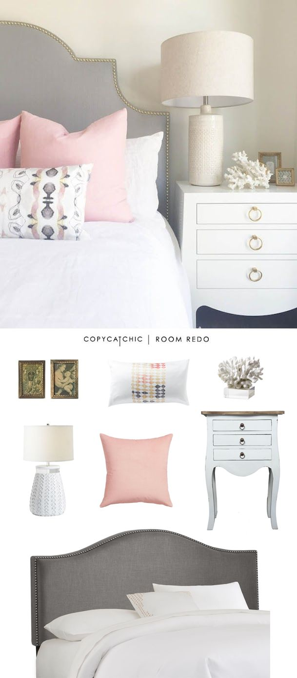 Pink bedroom decoration - Copy Cat Chic Room Redo