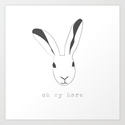 Oh my hare! Art Print by radis - $25.00