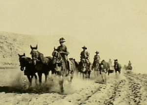 Australian Light Horse creating the impression of massed cavalry