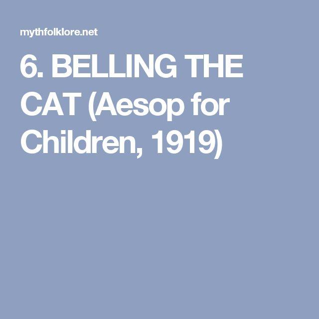 6. BELLING THE CAT (Aesop for Children, 1919)
