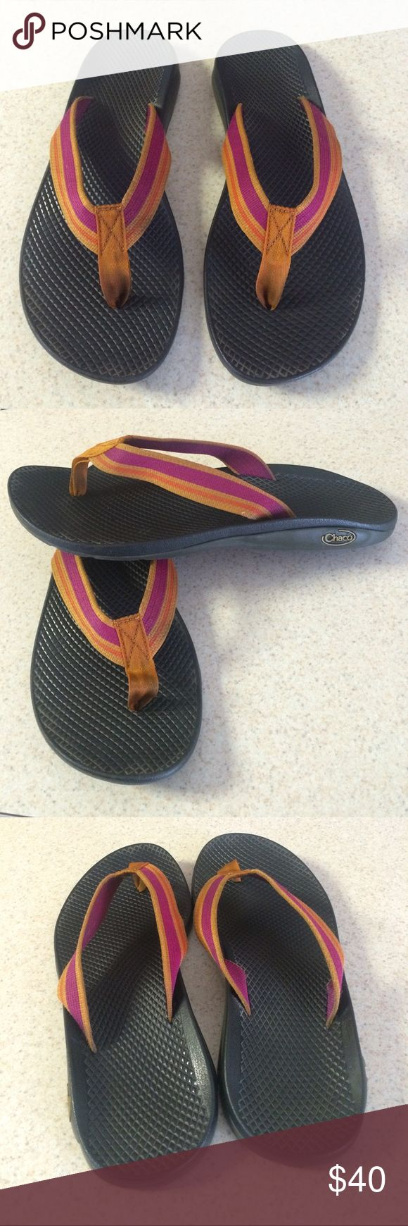 ❗️ weekend sale❗️was $40 Chaco Sandals Beautiful vibram sandals from CHACO, great arch, synthetic upper, rubber outsole, only worn twice, basically brand new. Chaco Shoes Sandals