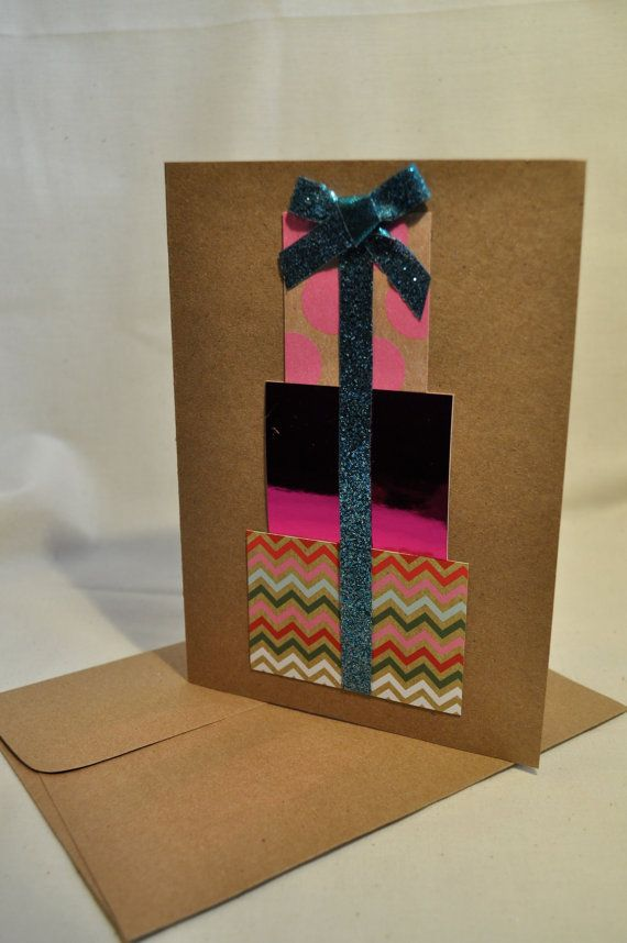Stack of Presents Birthday Card Made to by JerseyGirlsCrafting, $5.50 #birthdaycard #birthdaypresents