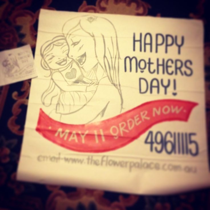 mum's day sign
