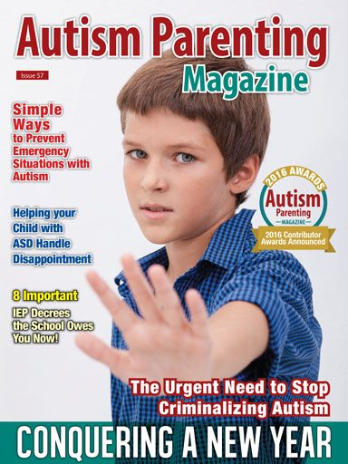 """Features: +Let's Hear It For This Year's Special Contributors +The Urgent Need to Stop Criminalizing Autism +A Loving Mother Reflects: Bringing up the Boy +The Time is NOW - Family Emergency Preparedness with Special Needs +A Meaningful Day at the Salon +The Urgent Need for Self-Care: The Oxygen Mask Rule +8 Simple Ways to Combat Social Time Stress +Autism Mom's Self Care: 6 Quick Ways To Reduce Stress and Gain Clarity +The Remarkable Day Daphne Met the """"Doctor"""" +Many more"""